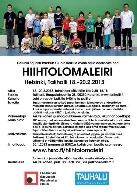 HSRC hiihtolomaleiri 2013 juliste
